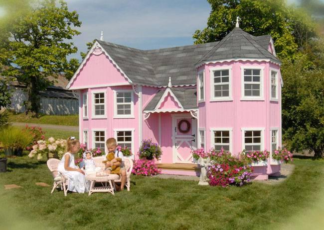 Casa de madera para el jard n blog popolet bordados for Casitas de madera para jardin para ninos
